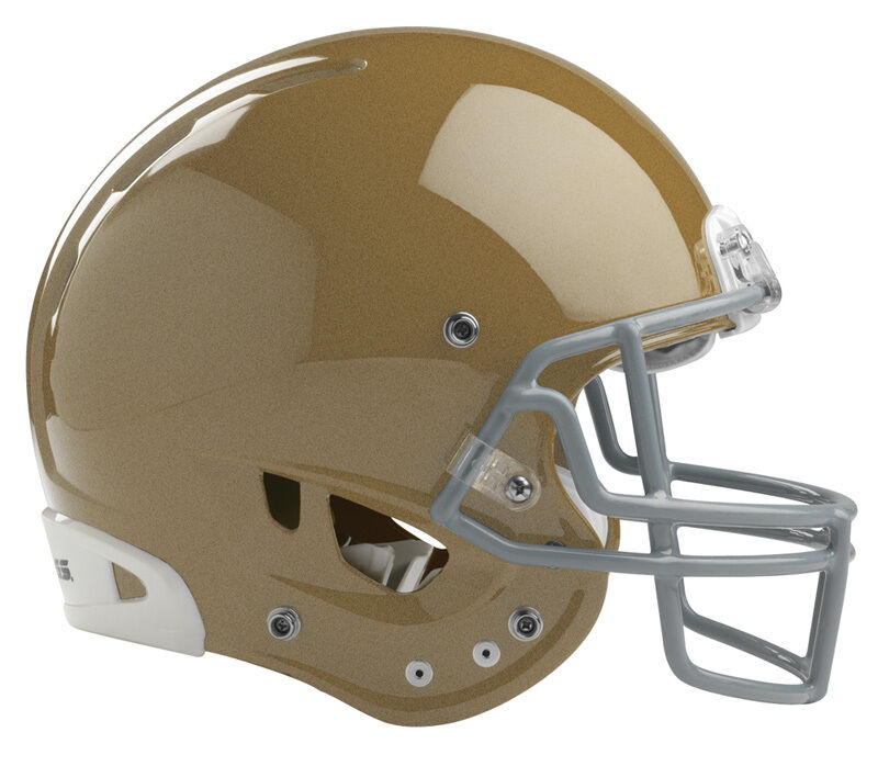 New Rawlings NRG Quantum helmet facemask adult small S football w faceguard gold