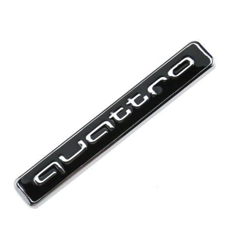 Audi Quattro Rear Boot Trunk Badge Emblem Black