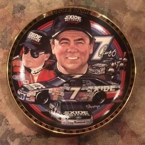 Geoff-Bodine-NASCAR-Drivers-Victory-Lane-Plate-4888B-Exide-Battery-HAMILTON-CO