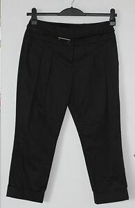 Pantaloni con Tailored Length Threequarter Black e zip New cintura Karen Millen 7tqwgcZ6