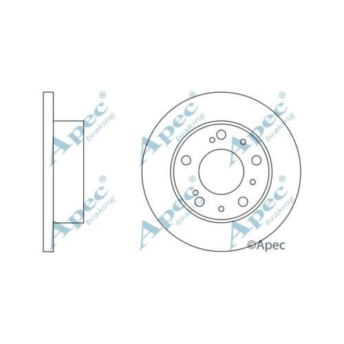 S/'adapte TALBOT EXPRESS 2.0 GENUINE OE QUALITY APEC Avant Solide Disques De Frein Lot Paire