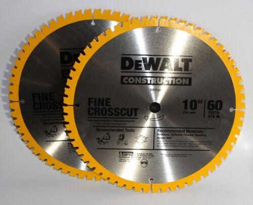 "Dewalt DW3106P5D60I 10/"" 60T Fine Finish Saw Blade 2 Blades"