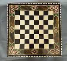 "19"" HIGH GLOSS WITH PRINT INLAID ON WOOD GLOSS FINISH CHESS BOARD"