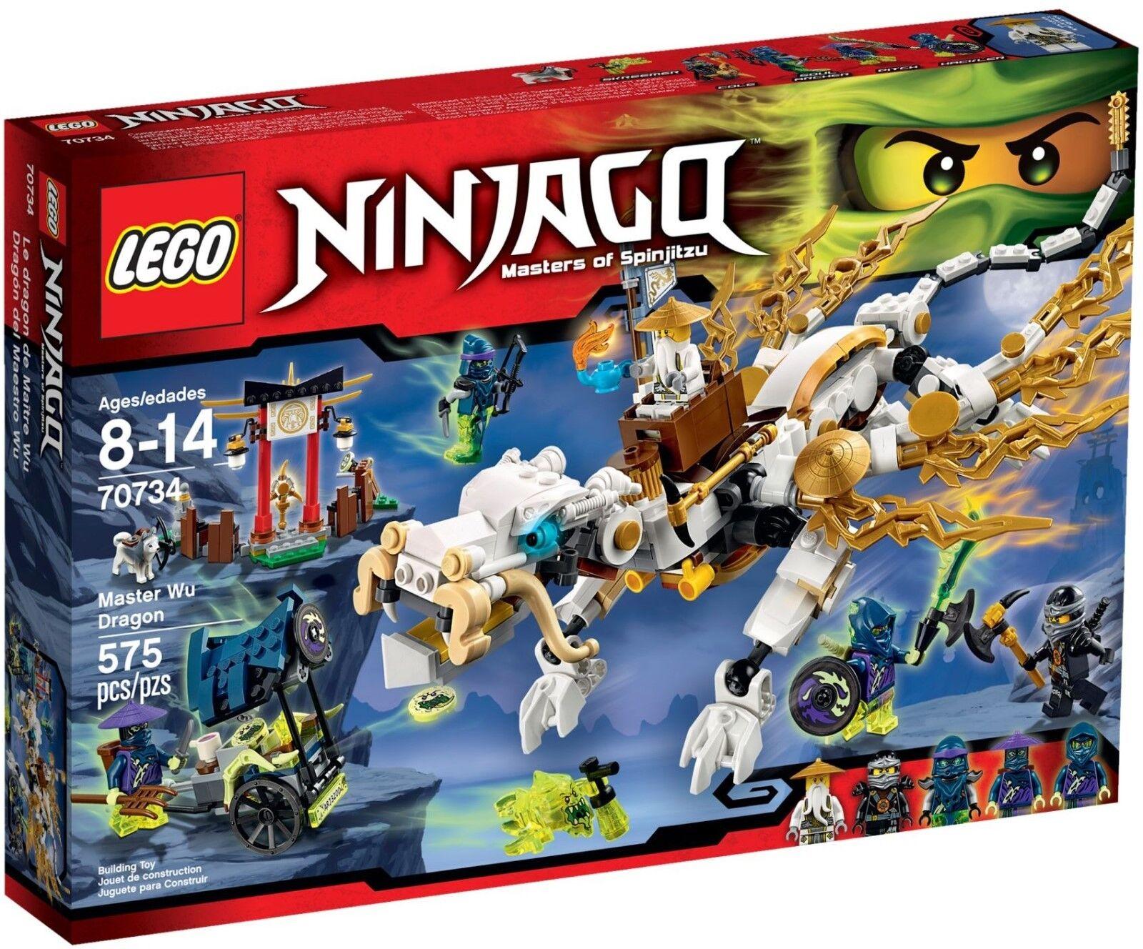 spedizione gratuita LEGO LEGO LEGO ® Ninjago ® 70734 maestro Wu 's DRAGO FANTASMA NUOVO OVP serie 70599 70748 70738  nuova esclusiva di fascia alta