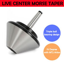 466 Mt 2 Bull Nose Pipe Live Revolving Center For Lathe Withmt2 Arbor New