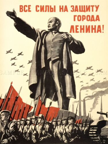 PROPAGANDA POLITICAL MILITARY LENIN VICTORY RED ARMY WAR WWII USSR LV3732