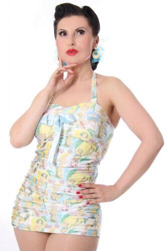 SugarShock RICARDA 50er retro vintage style Pin Up Rockabilly Badeanzug Swimsuit