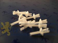 Jeu de 10 rivets 3,5 mm blancs de Bas de Marche Peugeot 104 204 304 404 504 604
