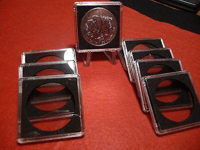 pkg of 5 #3 MORGAN SILVER DOLLARS QUADRUM :  COIN CAPSULE   38mm