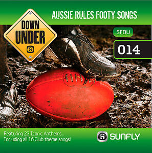 AUSSIE-RULES-FOOTBALL-AFL-CLUB-THEME-SONGS-SUNFLY-KARAOKE-CD-G