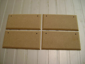 4X  8034 x 3034 HAND CRAFTED MDF WOODEN RECTANGLES SHAPE PLAQUE BLANKS WITH HOLES - <span itemprop=availableAtOrFrom>Hastings, East Sussex, United Kingdom</span> - 4X  8034 x 3034 HAND CRAFTED MDF WOODEN RECTANGLES SHAPE PLAQUE BLANKS WITH HOLES - Hastings, East Sussex, United Kingdom
