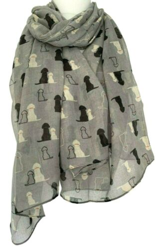 Dog Scarf Ladies Grey Golden Retriever Shawl Black Yellow Labrador Dogs Wrap