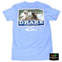 Drake Waterfowl Southern Collection Black And Yellow Lab T-shirt Blue Large