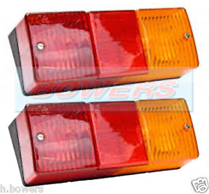 2x CATERHAM/WESTF<wbr/>IELD/KIT CAR BRITAX PT9060.00.12V REAR TAIL LAMP LIGHT CLUSTER