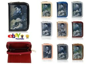 Elvis-Presley-New-3D-Small-Wallet-Purse-Patent-Leather-Coin-Womens-Card-Holder