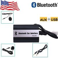 Car Wireless Bluetooth Hands-free Mp3 Aux Adapter Interface For Toyota