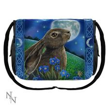 Nemesis Now/Lisa Parker Messenger Bag featuring Moon Gazing Hare