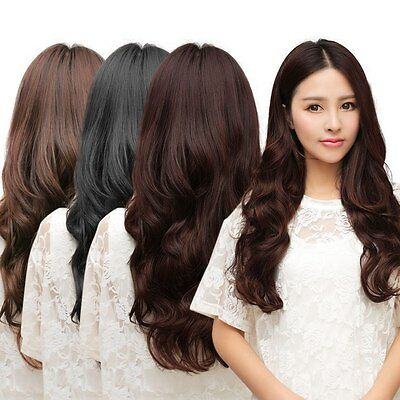 One Piece Clip 5 Clips in Synthetic Human Hair Extensions Long Wavy Curly Hair