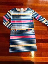 NWT Lilly Pulitzer Lena Dress Lapis Blue Tiki Stripe Dress  size XXS