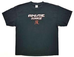Vintage Anime Junkie 2003 Tee Black Size XL Mens T-Shirt