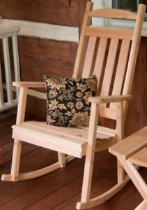 A L Furniture Co Amish Made Cedar Classic Porch Rocker Available