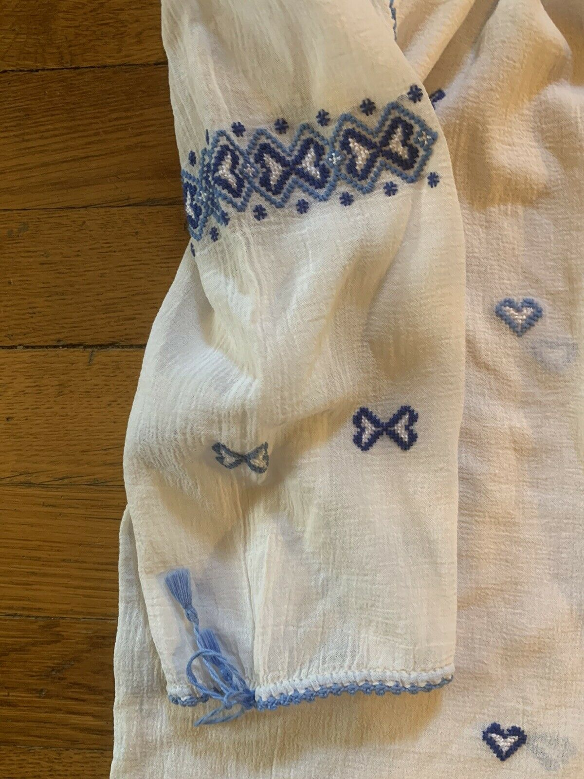 Vintage 1930s 1940s Hungarian Hand Embroidered Pe… - image 4