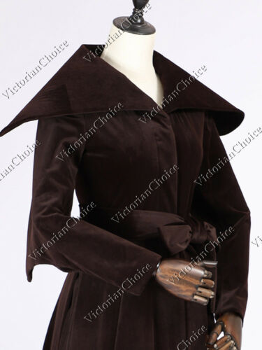 Steampunk Jacket | Steampunk Coat, Overcoat, Cape    Victorian Choice Edwardian Velvet Winter Trench Coat Vintage Steampunk Punk C043 $171.91 AT vintagedancer.com