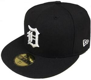 New Era MLB Detroit Tigers Black White 59fifty Fitted Cap Limited ... d64b0d94ca24