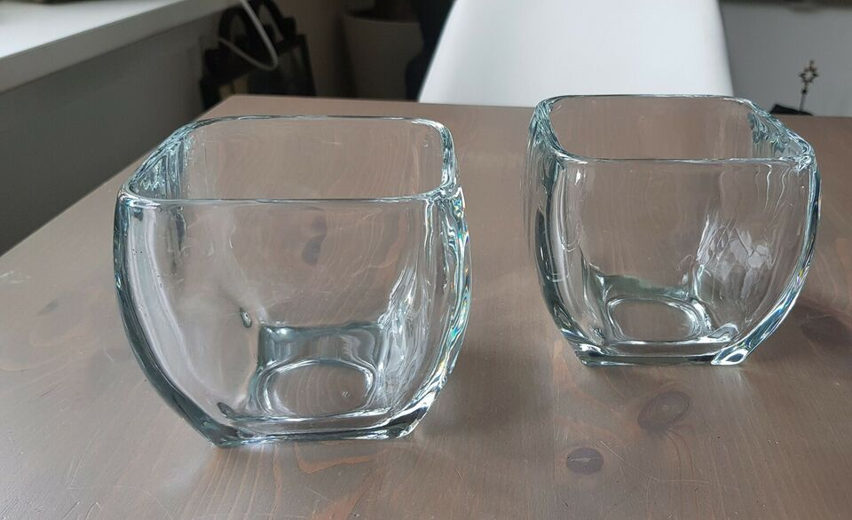 Glas, urtepotteskjuler, massivt glas