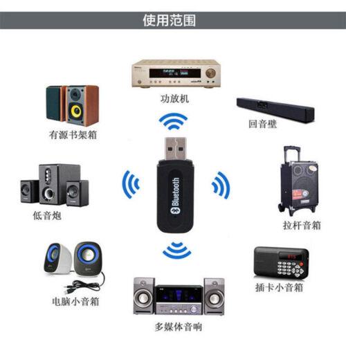 USB Kabellos Bluetooth Stereo Audio Music Empfänger Stick AUX Car Speaker BAF