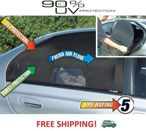 NEW Pair 2pcs Rear Windows Sun Shades//Socks//Sox For Car