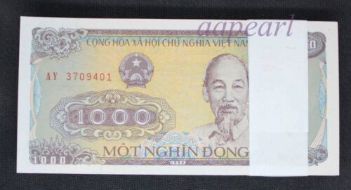 1000pcs Vietnam 1000 Dong real paper money UNC Banknotes Uncirculated brand new