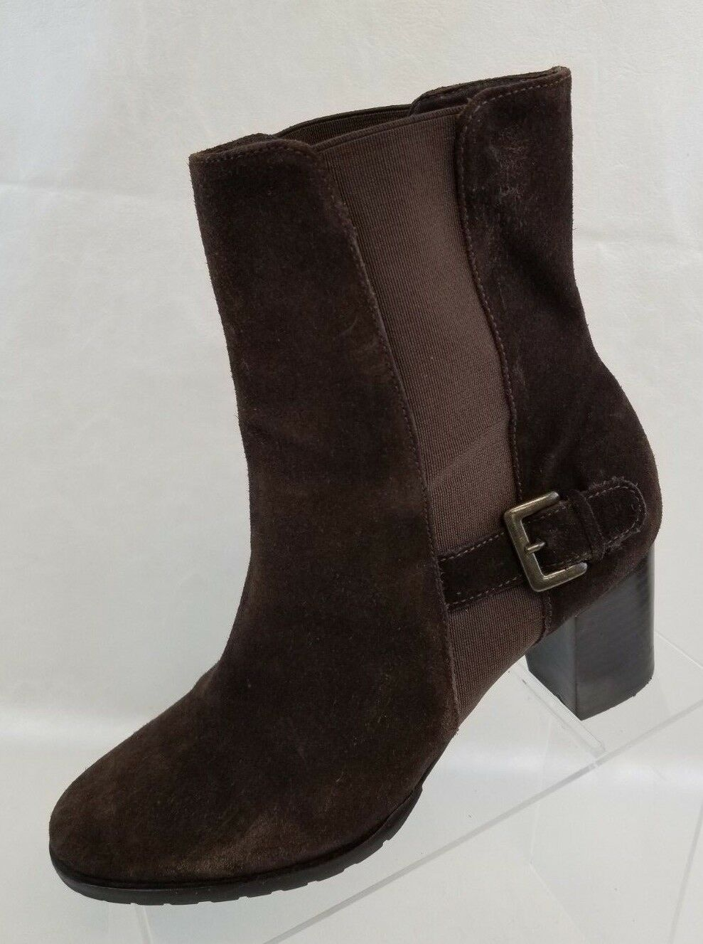 Cole Haan MISMATCH Ankle Boots Womens Brown Leather Pull On Size L 8.5B R 8B