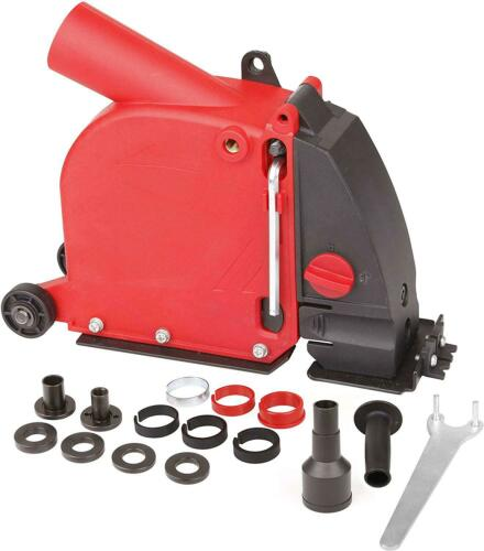 Dastool Angle Grinder Dust Collection Attachment For Double-Cut Saw,Wall Chaser