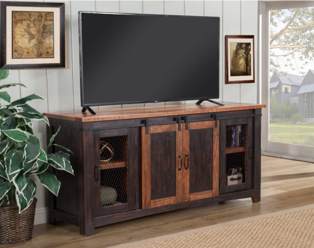 Rustic Tv Stand 65 Inch Entertainment Center With Doors Vintage Credenza Barn 70