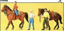 Hobbyreiter Bauernhof Pferde Preiser 10500 Figuren Spur HO (16,5 mm) Zubehör OVP