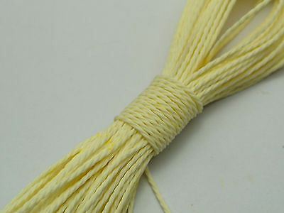 50 Meters Ivory Waxed Polyester Twisted Cord String Thread Line 1mm