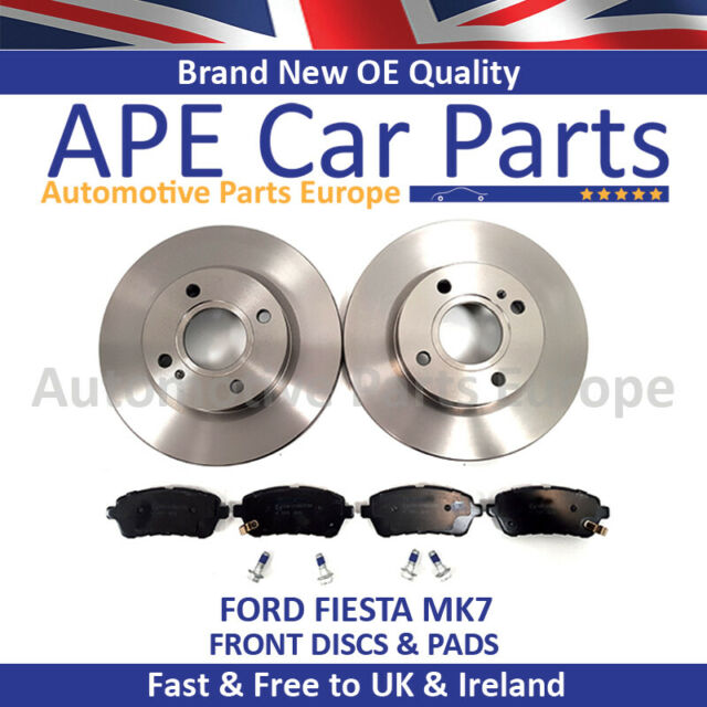 2 x Front Vented Brake Discs FOR Ford Fiesta 1.0 1.6  2008-on, 1.25 1.4 1.5