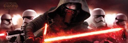Star Wars Türposter EP7 Kylo Ren /& Stormtroopers Episode7 Poster Plakat 158x53
