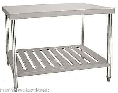 1.2 Metre heavy duty stainless steel catering kitchen table with under shelf