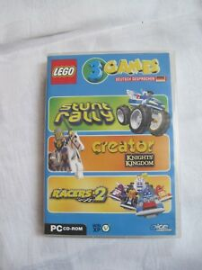 Lego-3-Games-034-Stunt-Rally-034-034-Creato-Knights-Kingdom-034-034-Racers-2-034-PC-CD-Rom-deuts