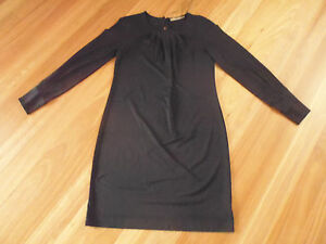 LADIES-STYLISH-BLACK-LONG-SLEEVE-POLYESTER-DRESS-BY-LIMITED-EDITIONS-SIZE-8