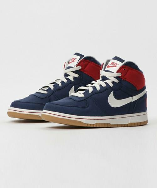 BIG NIKE HIGH LUX 854165 401 MIDNIGHT NAVY blueeE RED-SAIL WHITE - CANVAS DUNK