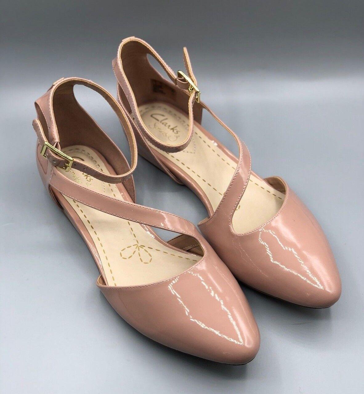 Nuevo Clarks Clarks Clarks  Coral Fizz  Damas Polvoriento rosado Charol Zapatos UK 5.5 D  aquí tiene la última