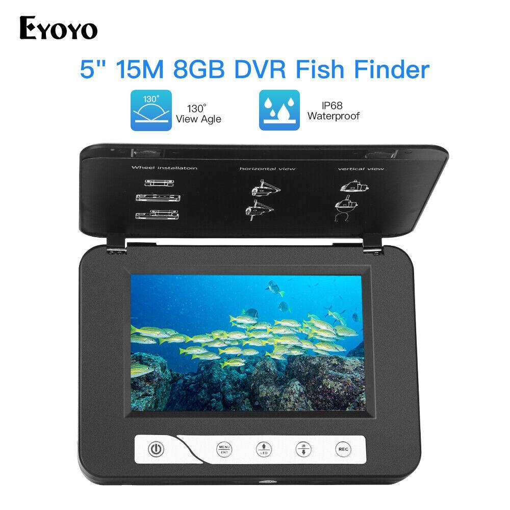 Cámara de vídeo portátil 5  15M bajo el agua 1000TVL + 8GB Grabadora Buscador de los pescados + Bolsa