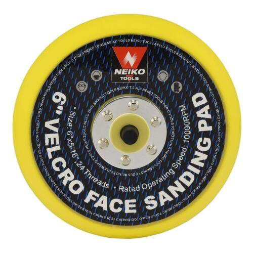Neiko 30263A Sanding Pads 6-Inch Hook and Loop face for Random Orbital Sanders,