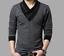 Fashion-Men-039-s-Casual-V-Neck-Cotton-Tops-Blouse-Slim-Short-Long-Sleeve-T-Shirt thumbnail 8