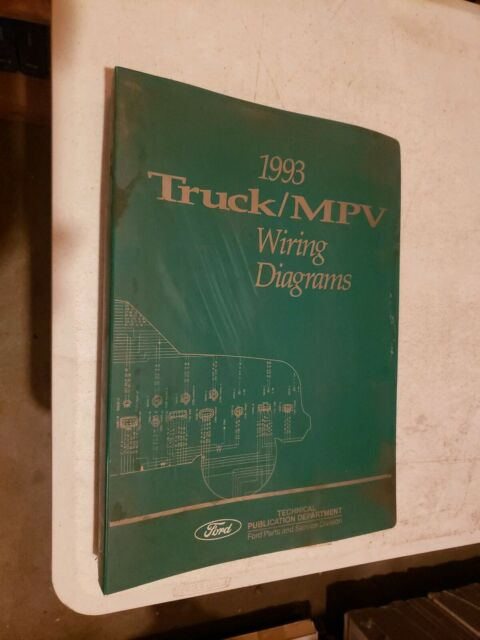 1993 Ford Truck Wiring Diagrams Electrical Service Manual