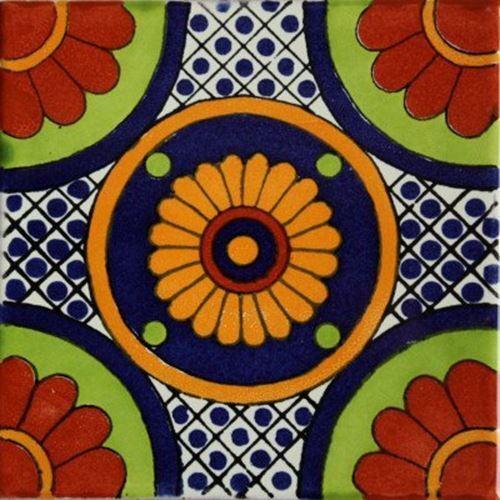 6x6 4 pcs Bacanora Talavera Mexican Tile