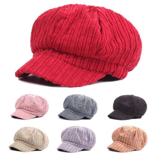Frauen Damen Winter Zeitungsjunge Kappe Warm Gatsby Draussen Beiläufig Hut